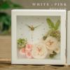 プリザーブドフラワー、花時計、置時計